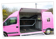 Pink Horse Box Equibabe Horseboxes Offer Panel Van Conversions